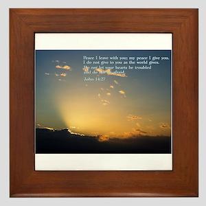 John 14:27 Framed Tile