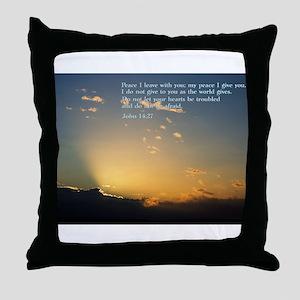 John 14:27 Throw Pillow