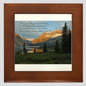 Isaiah 58:11 Framed Tile