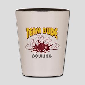 Team Dude Bowling Shot Glass