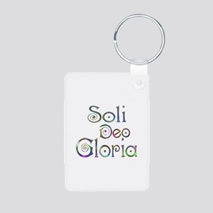 Soli Deo Gloria Aluminum Photo Keychain