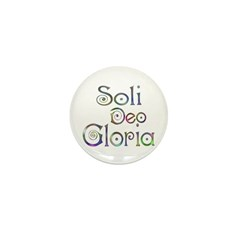 Soli Deo Gloria Mini Button (10 pack)