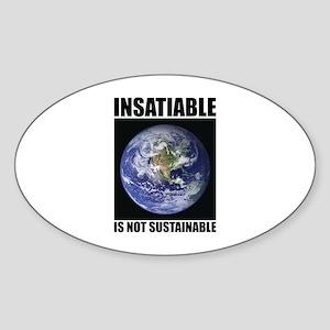Insatiable Oval Sticker