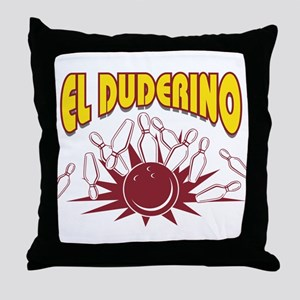 El Duderino Bowling Throw Pillow