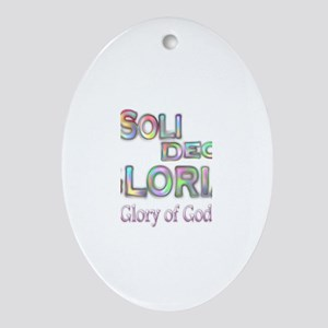 Soli Deo Gloria Ornament (Oval)