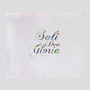 Soli Deo Gloria Throw Blanket