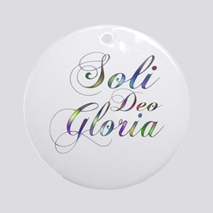 Soli Deo Gloria Ornament (Round)