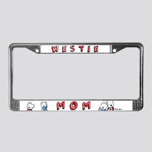 Westie Mom (Red) License Plate Frame