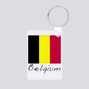 Belgium (Flag, International) Aluminum Photo Keych