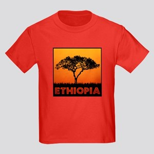 Ethiopia - Kids Dark T-Shirt