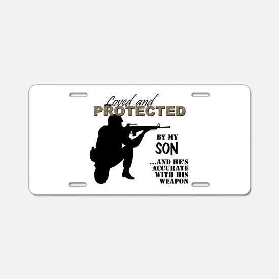 Army moms Aluminum License Plate