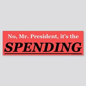Spending Bumper Sticker