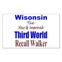 Wisconsin 3rd World Sticker (Rectangle)