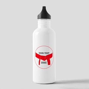 Custom Martial Arts Red Belt Stainless Bottle