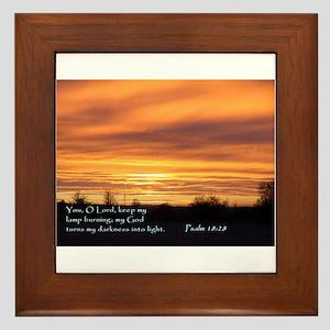 Psalm 18:28 Framed Tile