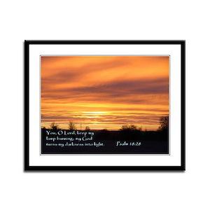 Psalm 18:28 Framed Panel Print
