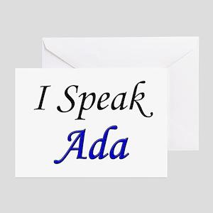 """I Speak Ada"" Greeting Cards (Pk of 10)"