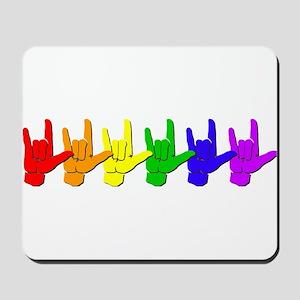 I love you - colorful Mousepad