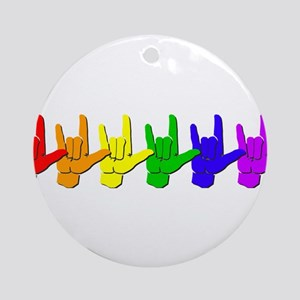 I love you - colorful Ornament (Round)