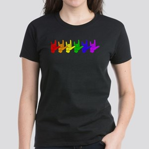 I love you - colorful Women's Dark T-Shirt