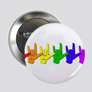 "I love you - colorful 2.25"" Button"