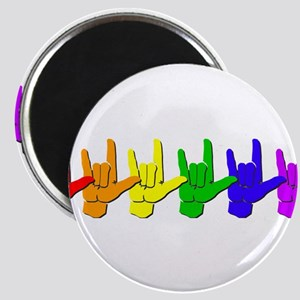 """I love you - colorful 2.25"""" Magnet (10 pack)"""