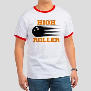 High Roller Bowling Ringer T