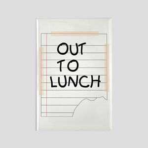 Out To Lunch Note Rectangle Magnet