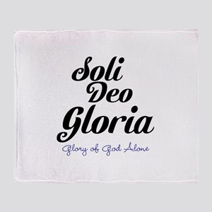 Soli Deo Gloria Throw Blanket