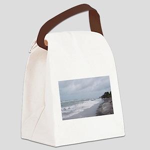 Stormy Beach Coastline Canvas Lunch Bag
