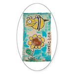 Bumblebee Sticker (Oval 50 pk)