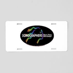 Sonographer more than skin de Aluminum License Pla