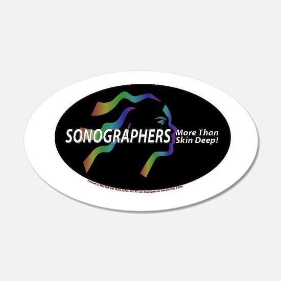 Sonographer more than skin de 22x14 Oval Wall Peel