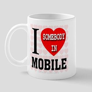 I Love Somebody in Mobile Mug
