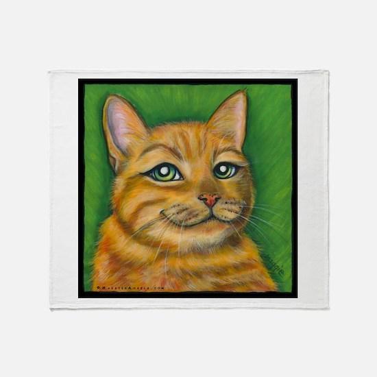 "Tabby Cat ""Dennis"" Throw Blanket"