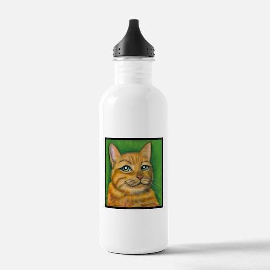 """Tabby Cat """"Dennis"""" Water Bottle"""