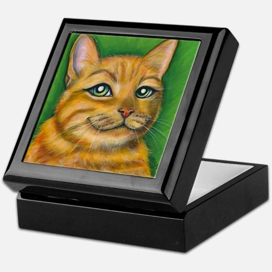 """Tabby Cat """"Dennis"""" Keepsake Box"""