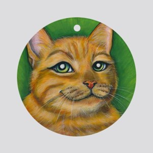 "Tabby Cat ""Dennis"" Ornament (Round)"