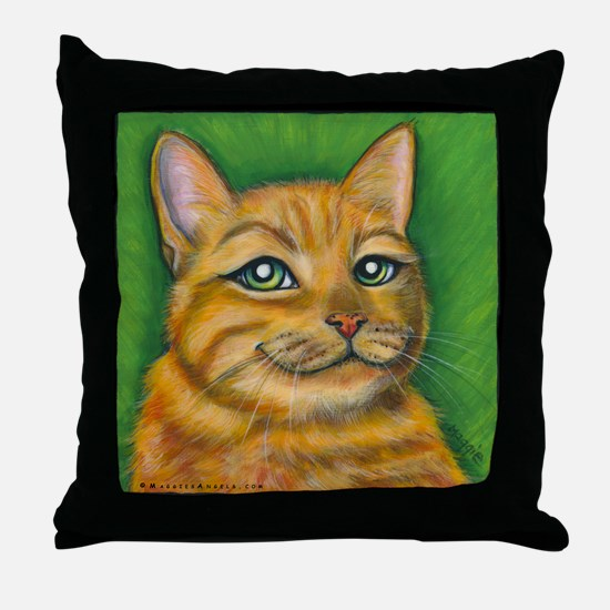 "Tabby Cat ""Dennis"" Throw Pillow"