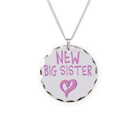 New Big Sister Necklace Circle Charm