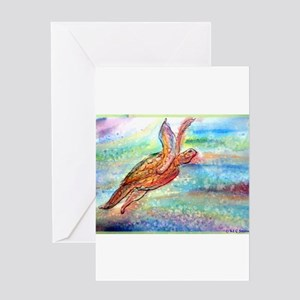 Sea Turtle, Wildlife, Greeting Card