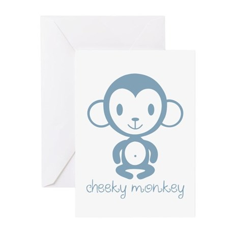 Cheeky Monkey Greeting Cards
