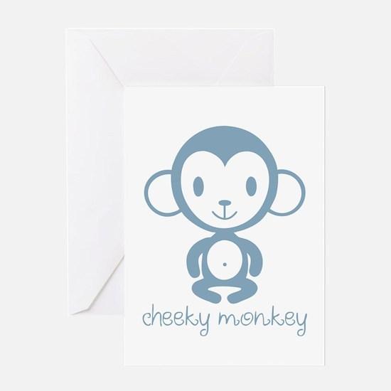 Cute Monkey boy baby Greeting Card