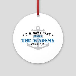 US Navy Academy Base Ornament (Round)