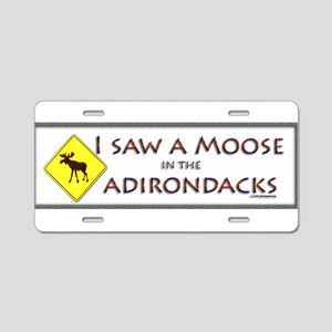 I Saw a Moose! Aluminum License Plate