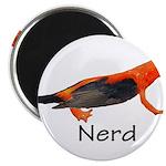 """Newt + Bird = Nerd 2.25"""" Magnet (100 pack)"""