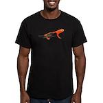 Newt + Bird = Nerd Men's Fitted T-Shirt (dark)