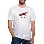 Newt + Bird = Nerd Fitted T-Shirt