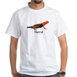 Newt + Bird = Nerd White T-Shirt