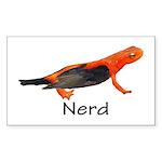 Newt + Bird = Nerd Sticker (Rectangle 10 pk)
